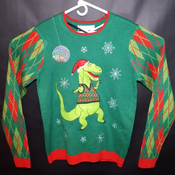7de558d335a06d Jolly Sweaters Other - Ugly Christmas Sweater With Dinosaur Size Medium